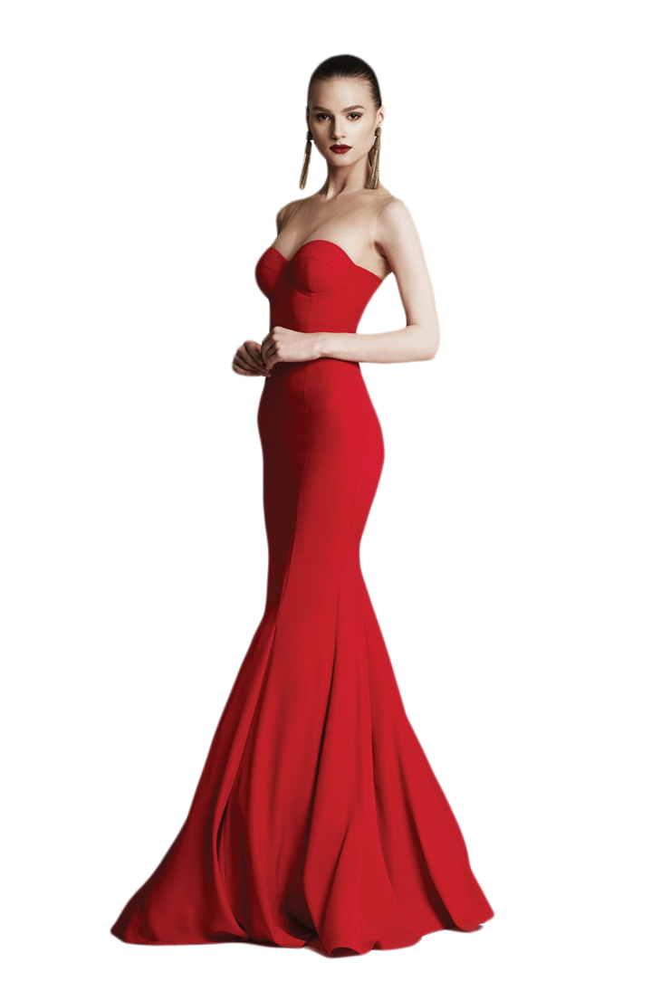 Women in red png. Girl the dress by