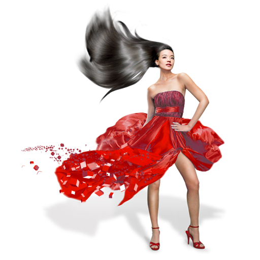 Women in red png. Girls dress icon my