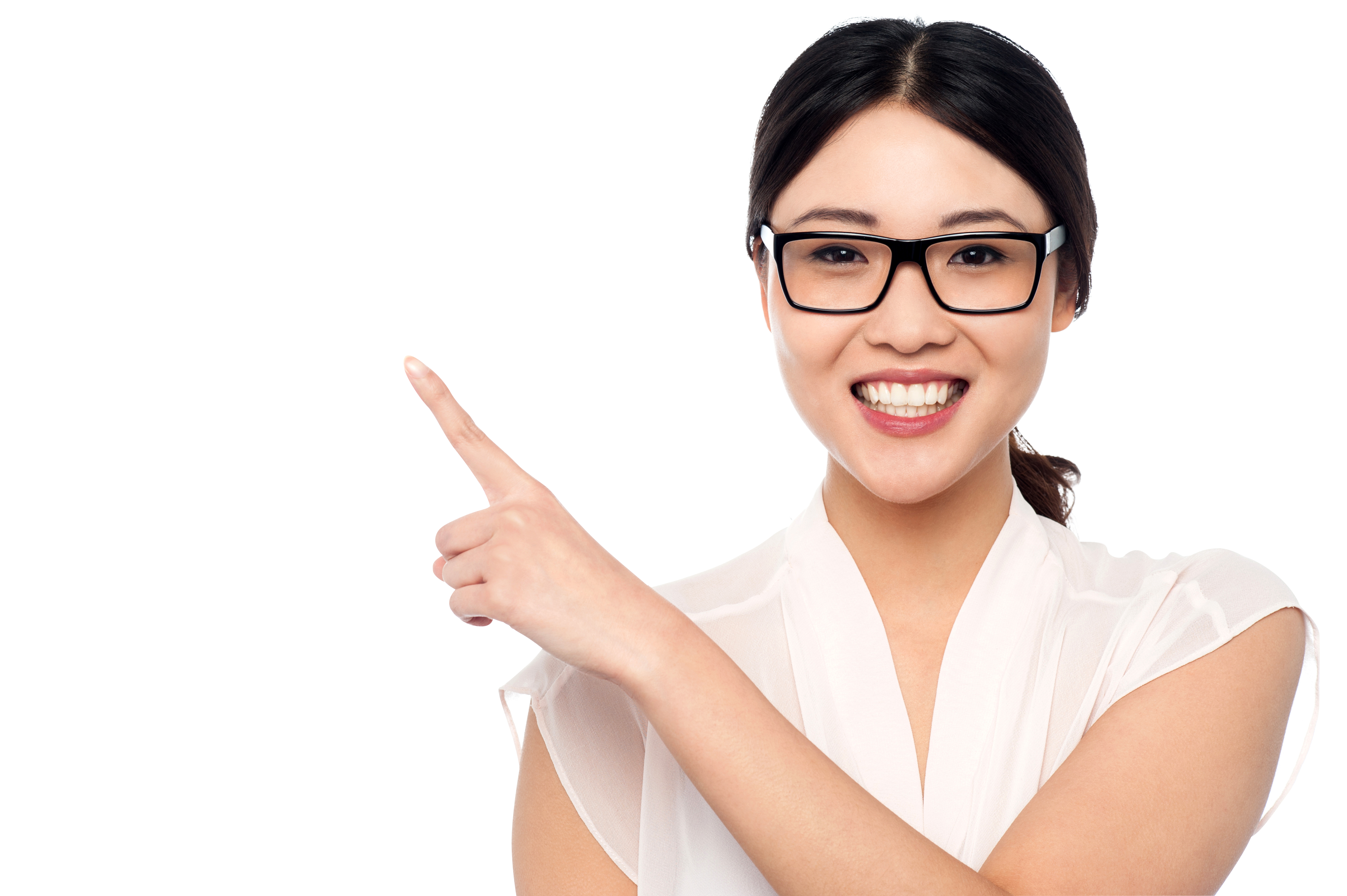 Woman pointing png. Girl left download free
