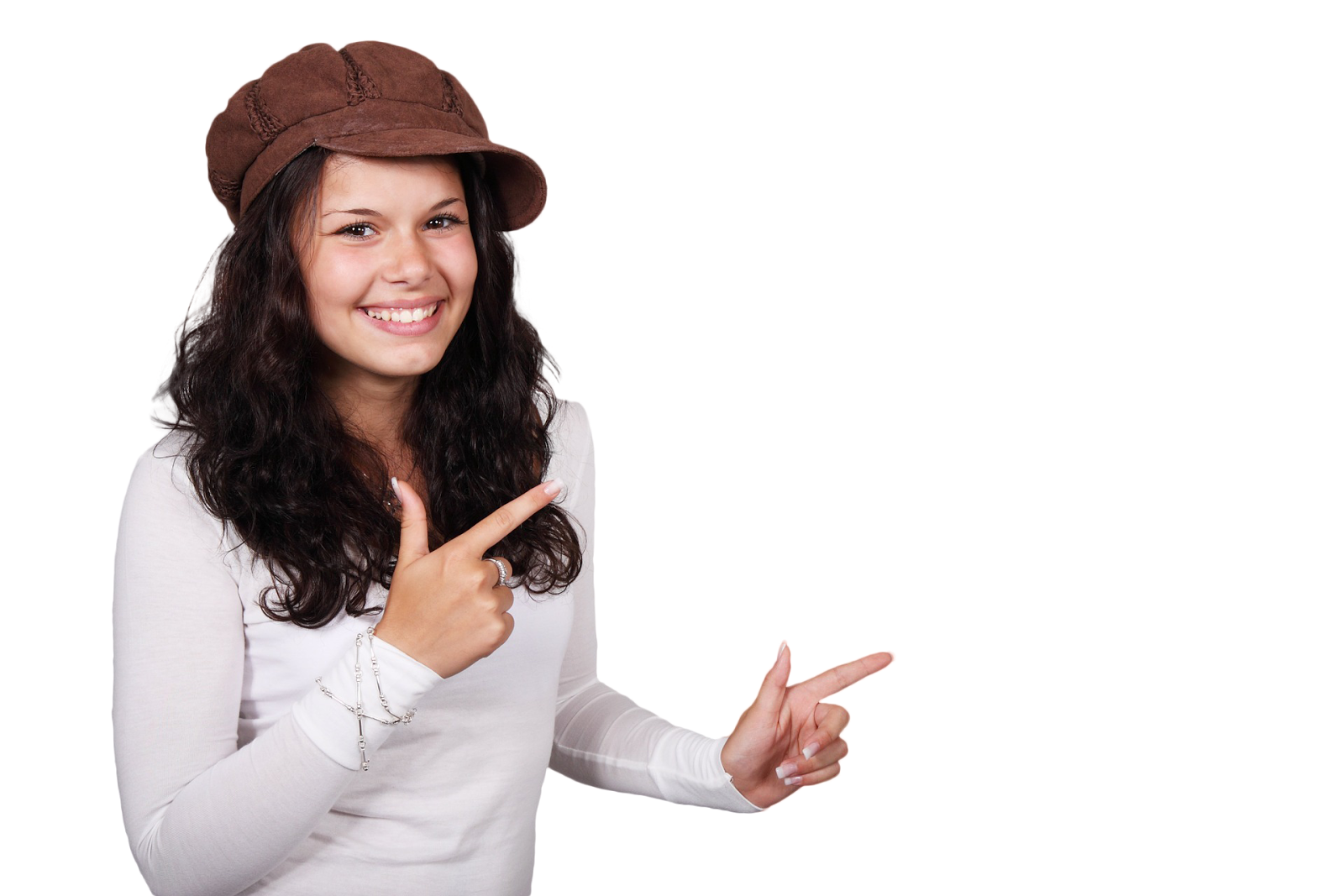 Woman pointing png. Elinkterest free images select