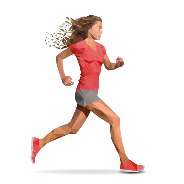 Woman running png. Get active mike s