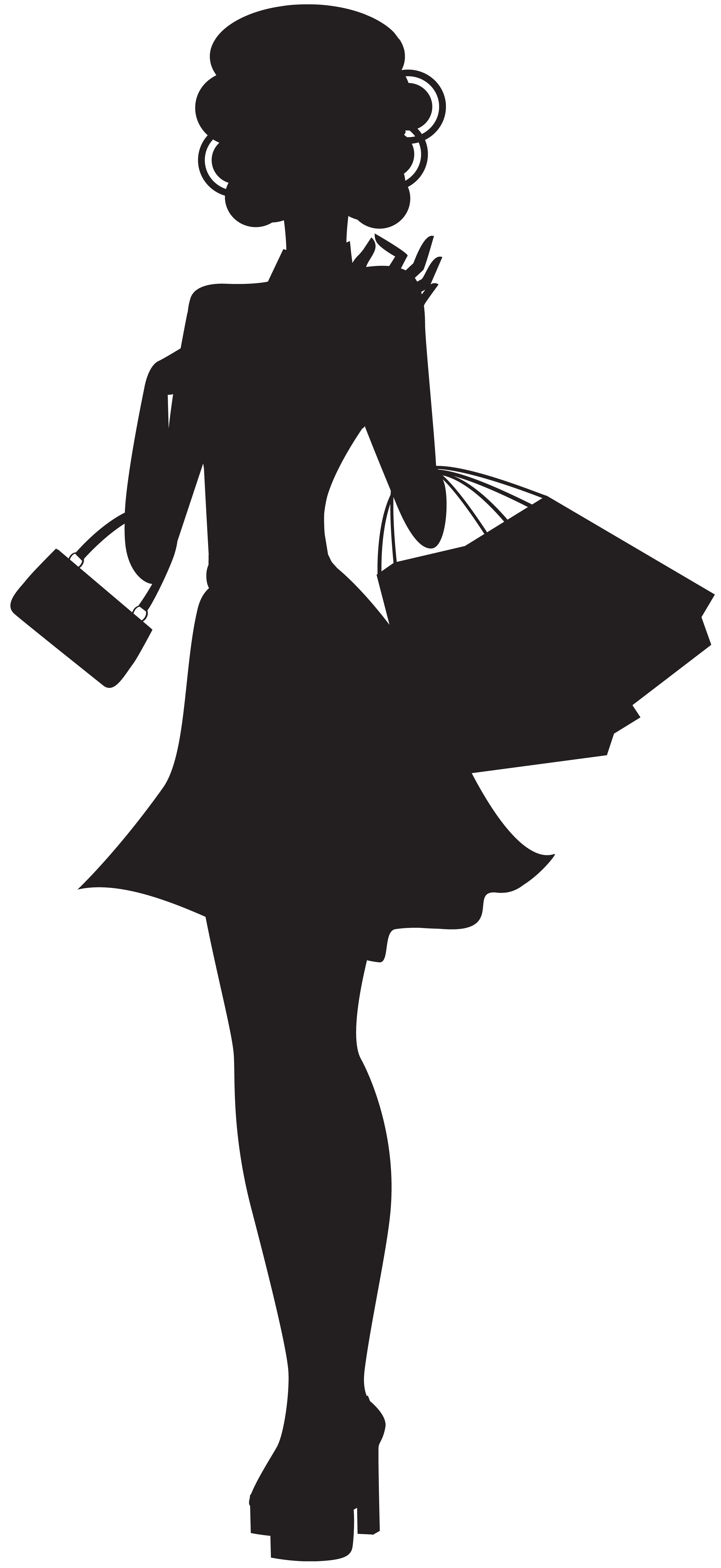 shopping silhouette png