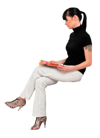 Woman sitting png