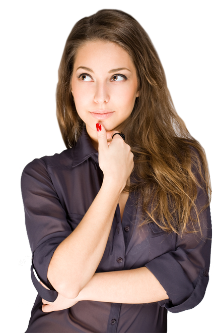 Woman thinking png. Images free download girl