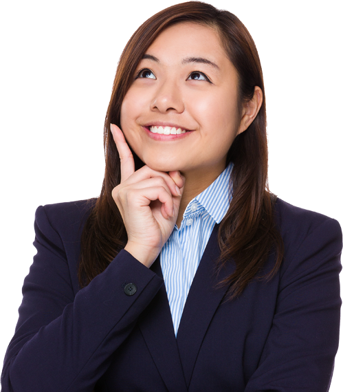 Woman thinking png. Image web icons