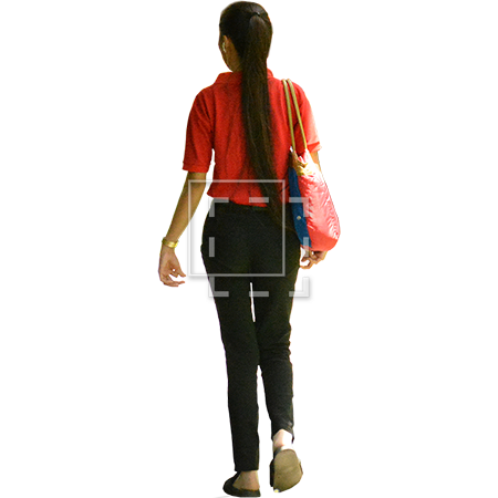 Woman walking away png. File of a with