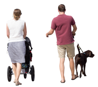 Person walking dog png. Clipped img adultcouplewalkingfrontholdinghands