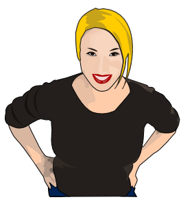 Women clipart. Woman looking up clip