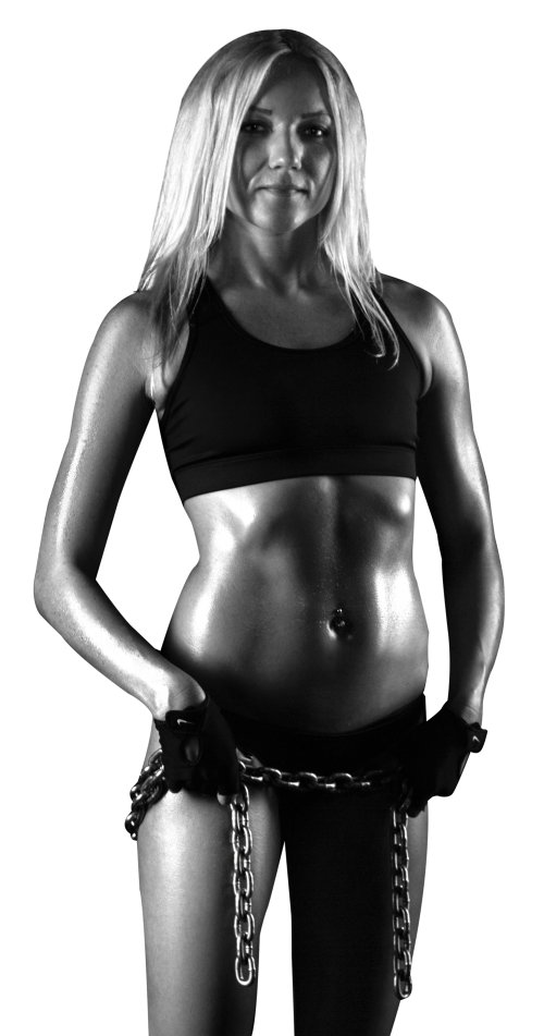 Women fitness png. Young woman with muscular
