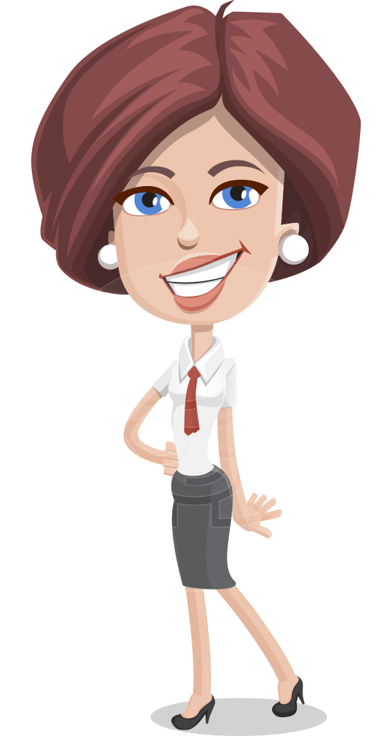 Women in animation logo png. Vector successful business woman