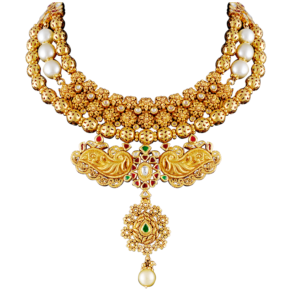 Women jewelry png. Gold necklace for free