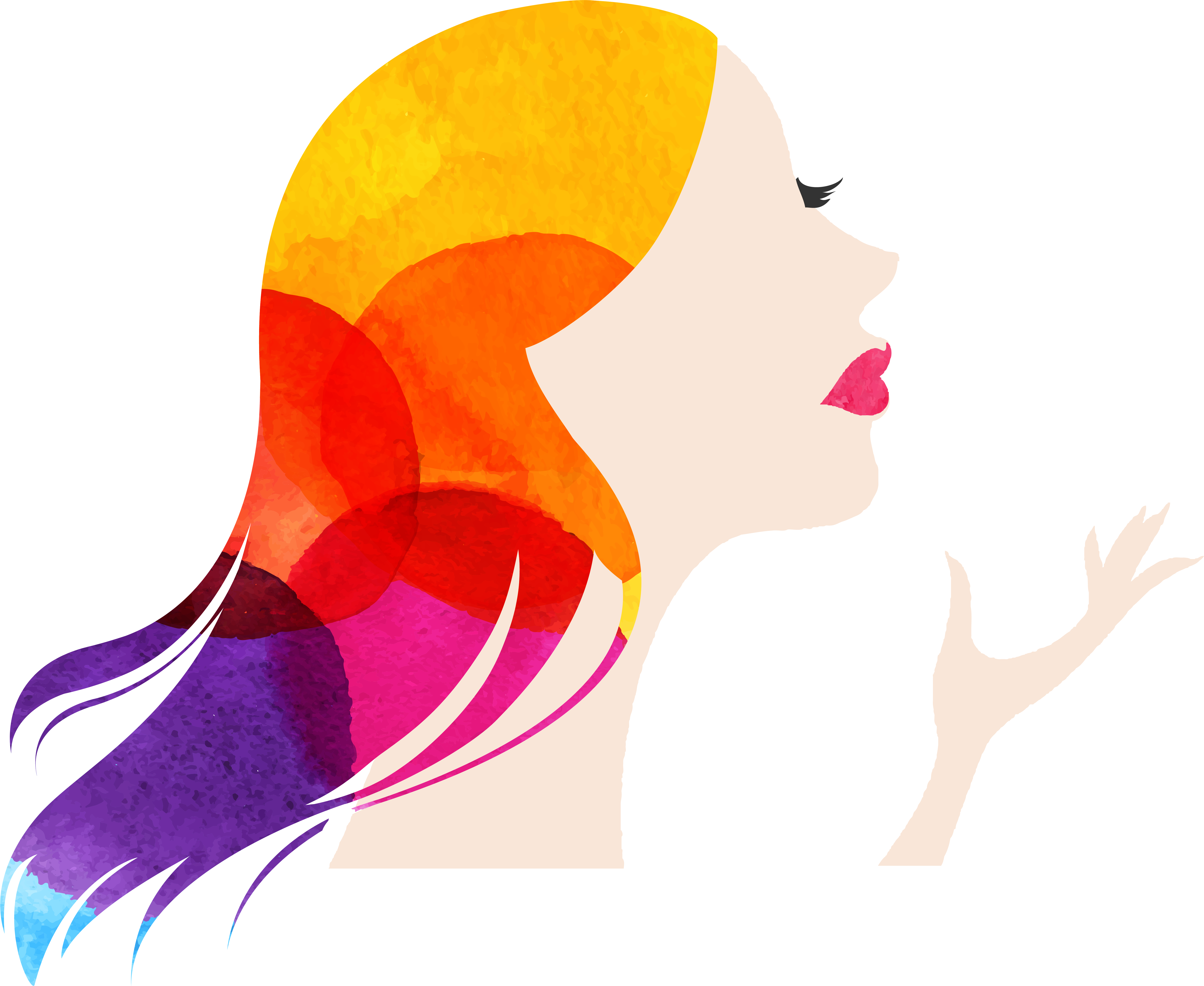 Women makeup shutterstock png. Woman silhouette painting at