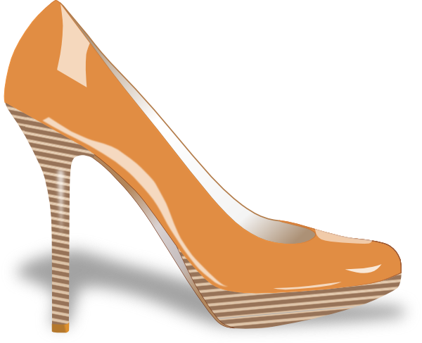 Womens clip art at. Women's shoe png vector free library
