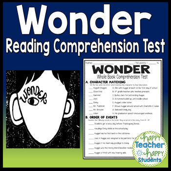Wonder clipart test quiz. Final book with answer