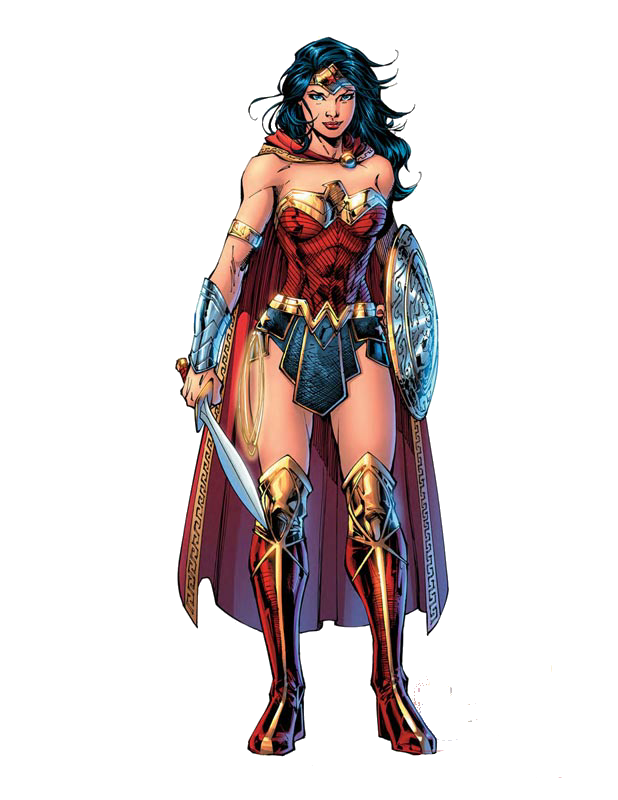 Latest drawing wonder woman. Comic png render by