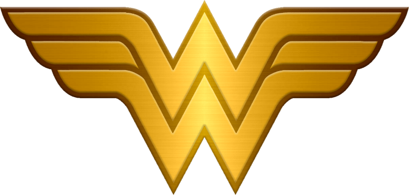 Woman metallic transparent stickpng. Wonder women logo png clipart royalty free