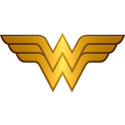 Woman transparent stickpng metallic. Wonder women logo png clip free