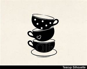 Wonderland clipart stacked teacup. Tea cup stack pencil