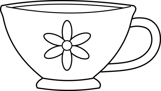 Wonderland clipart teacup. Black and white free