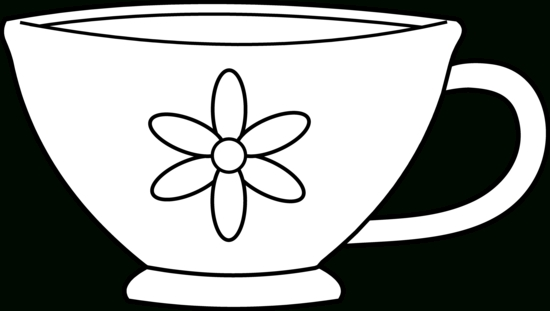 Wonderland clipart teacup. Cup black and white