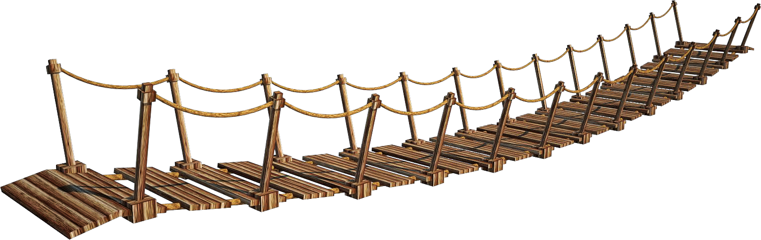 Wood bridge png. Wooden a suspension by