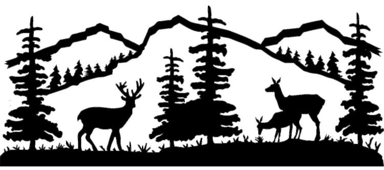 Wood clipart deer scene. Free cliparts download clip