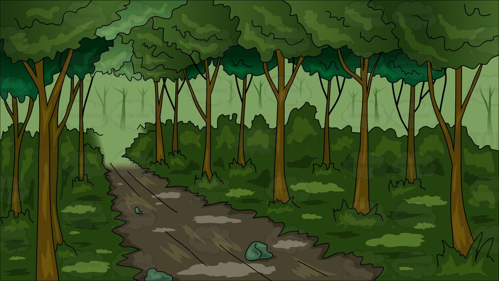 Backgrounds cartoon images a. Woods clipart png library
