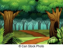 Woods clipart. Trail illustrations and clip svg stock