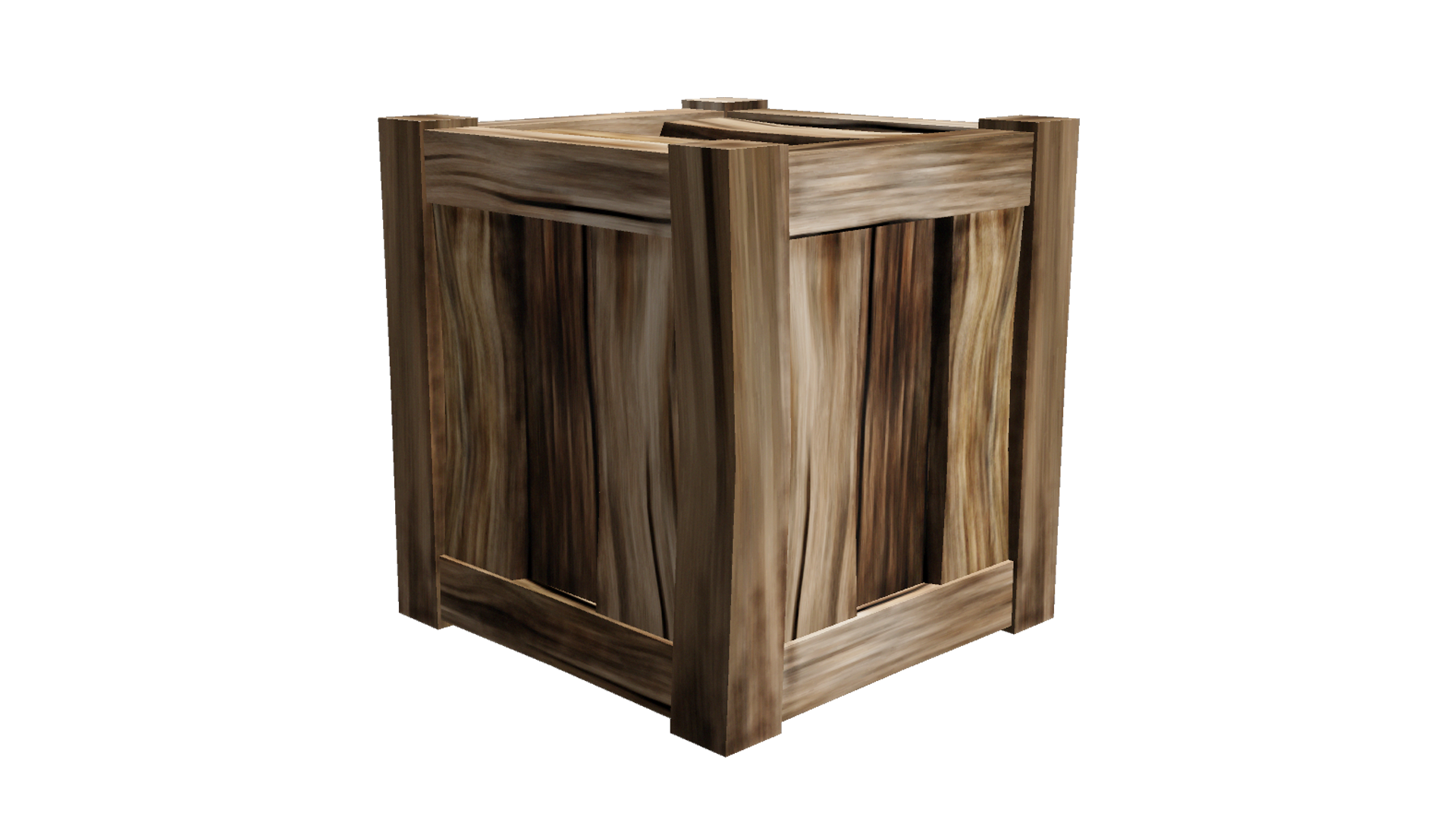 Wood crate png. Wooden lowpoly by fiveaxiomsinc