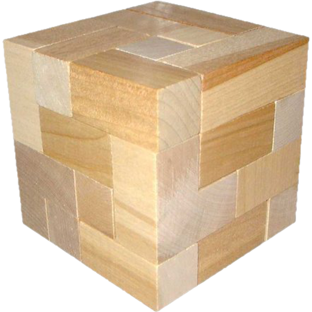 Wood cube png. Dee wooden brainteaser puzzles