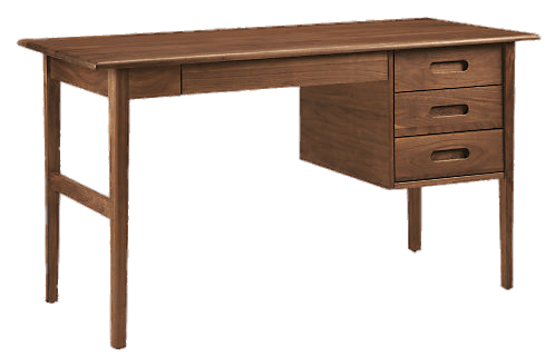 Wood desk png. Modern wooden transparent stickpng