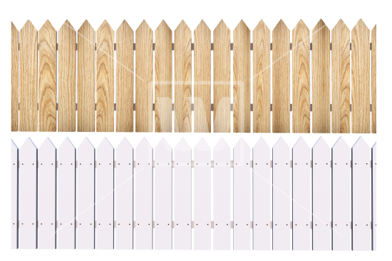 white fence png