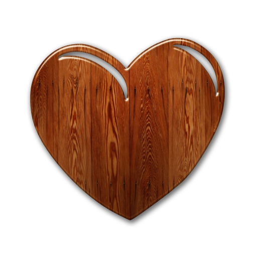 Bark drawing heart. Free wood cliparts download