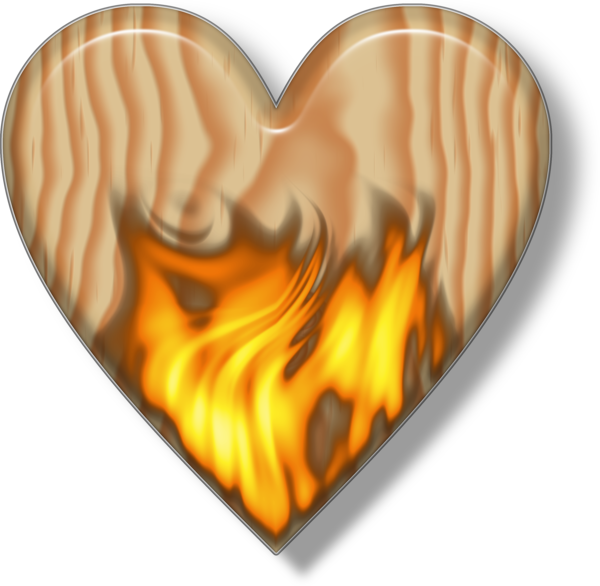 Wooden heart png. Flaming free images at