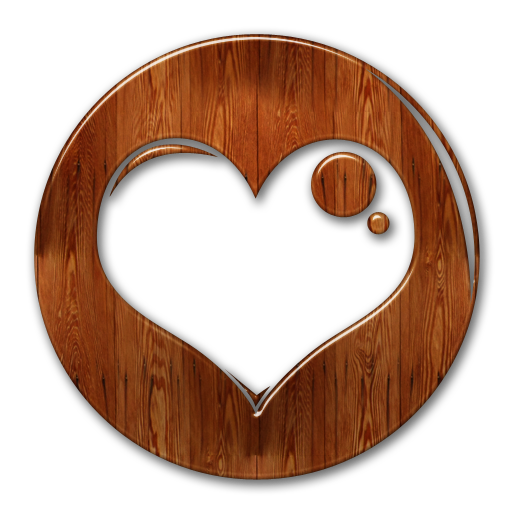 Wood heart png