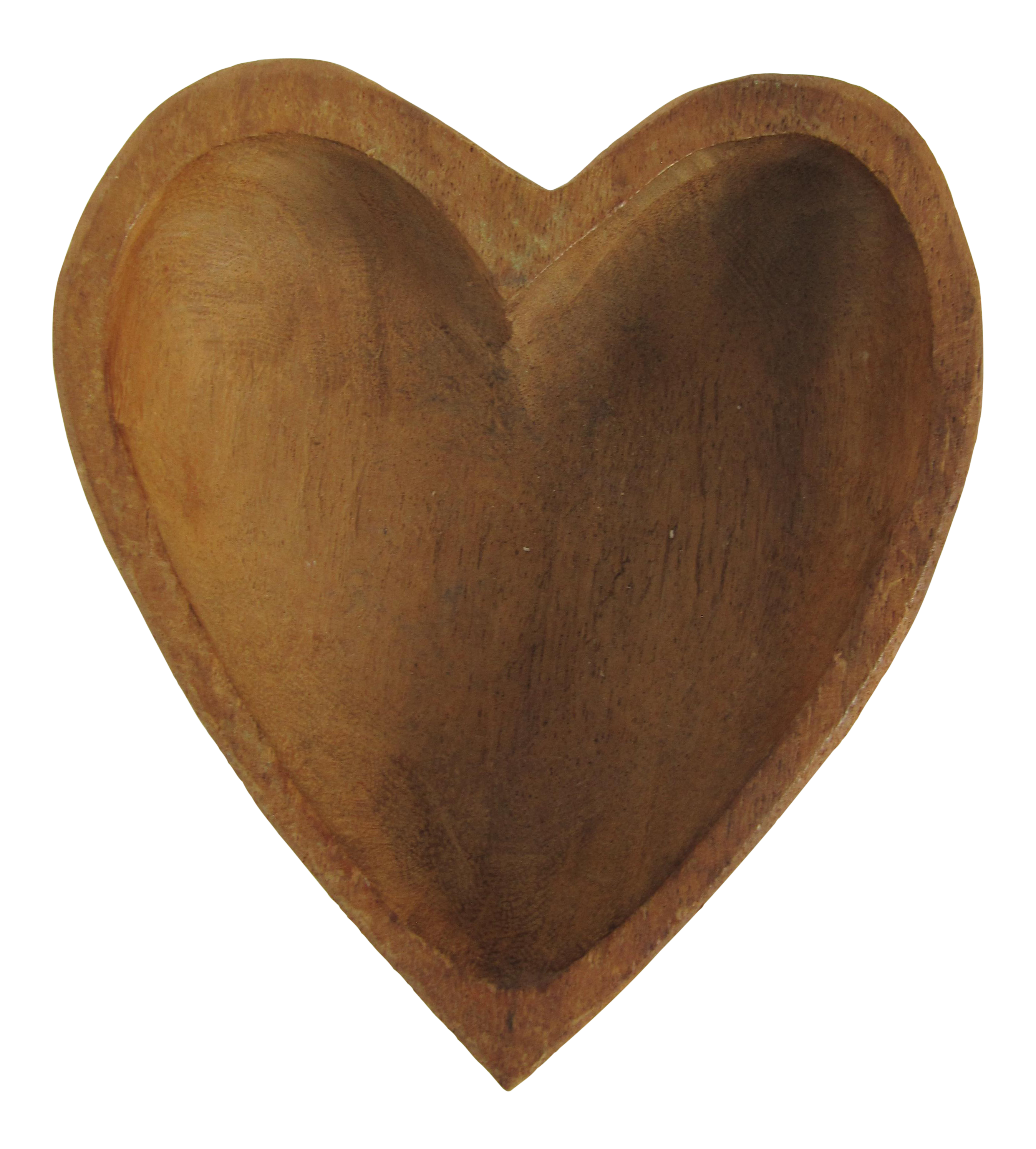 Wood heart png. Hand carved shaped bowl