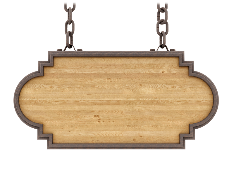 Hanging sign png. Wooden signs to highlight