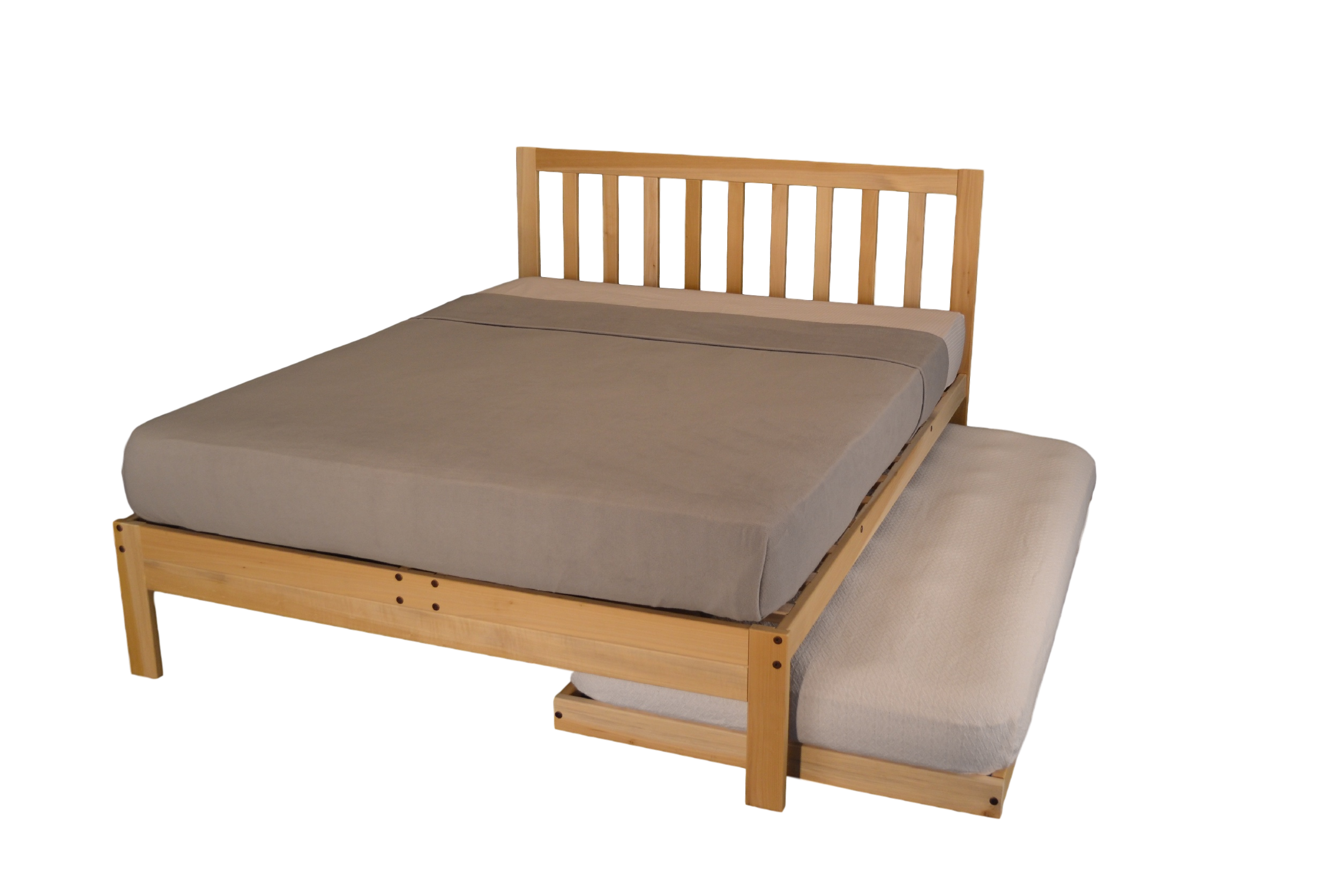 Wood platform png. Unfinished bed with headboard