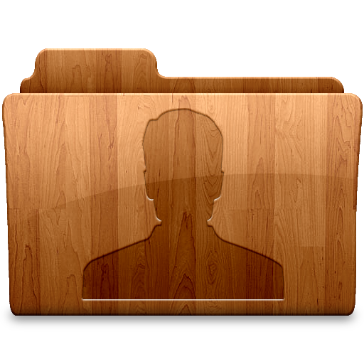 Png wood. Glossy user icon folders