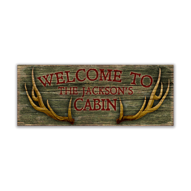 Wood sign png. Welcome to the cabin