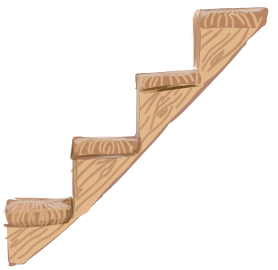 Wood stairs png. Image ultimate chicken horse