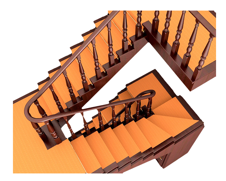 Wood stairs png. Stair riser turning beam