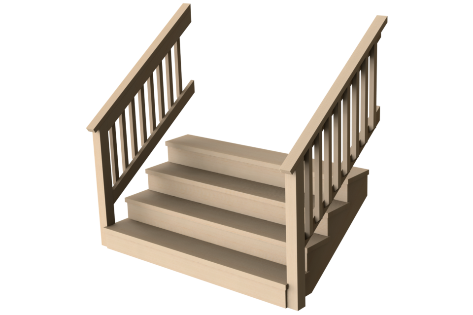 Wood stairs png. Porch deck configurable d