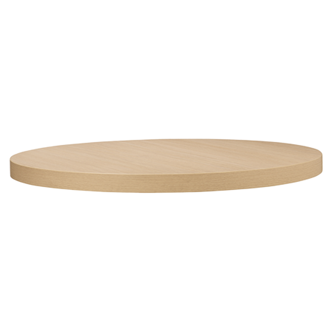 Wood table png. Round finish werzalit top