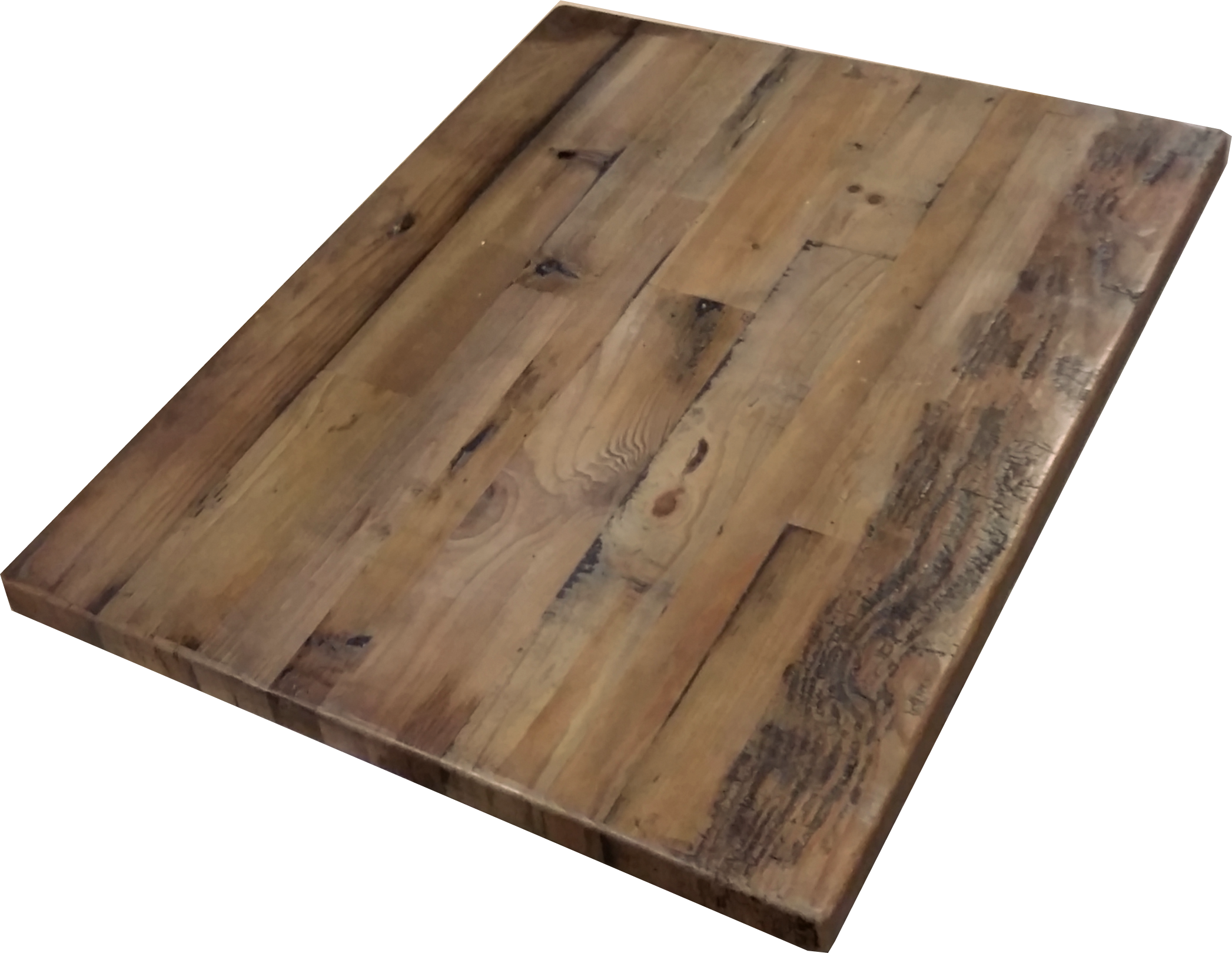 Wood table top png. Reclaimed straight plank tops