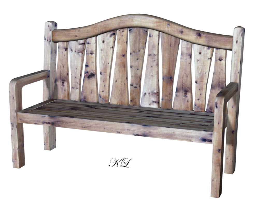 Wooden bench png. Old kl cactuskim by