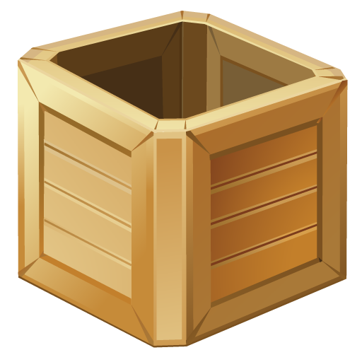 Wooden boxes png. Bright by iconeden box