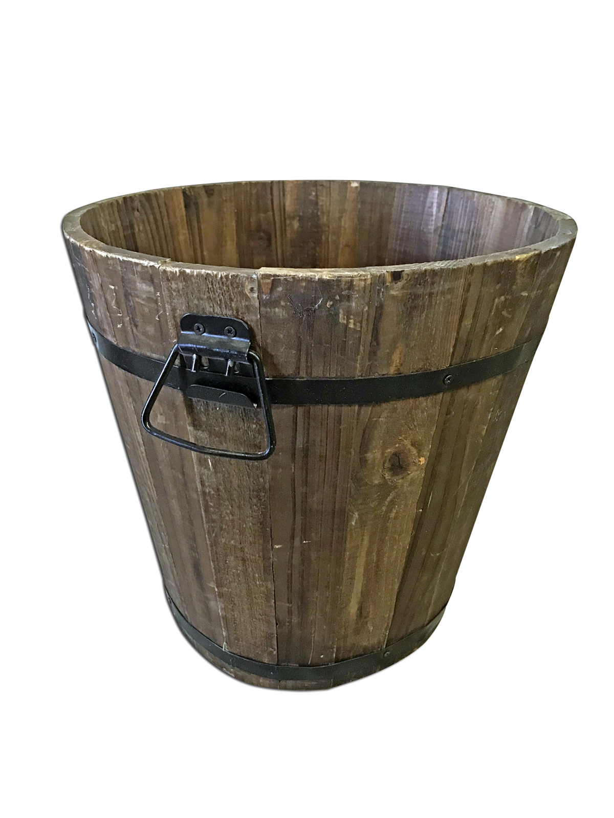 Bucket transparent wooden. Platinum prop rentals