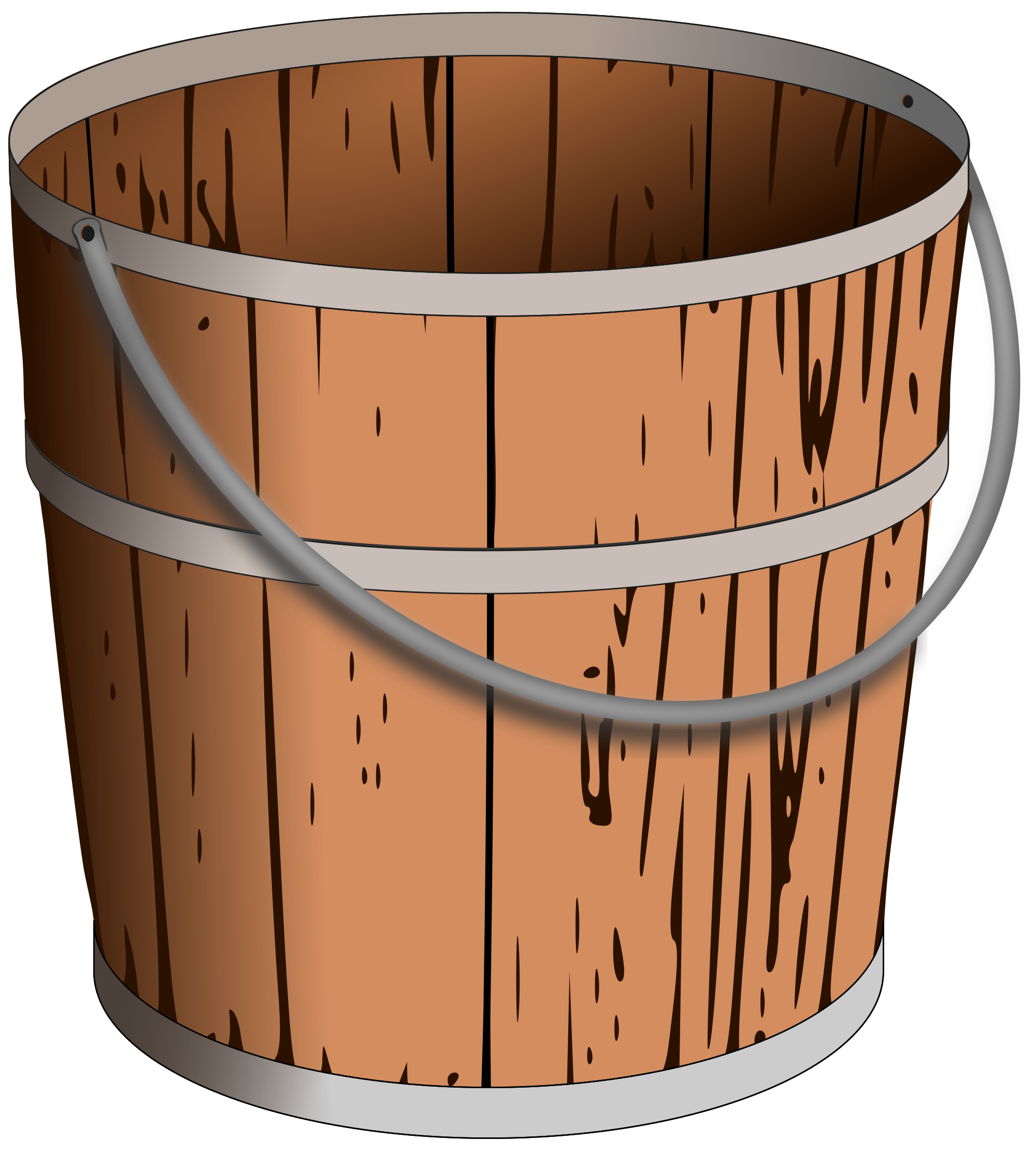 Wooden bucket png. File pail svg wikimedia