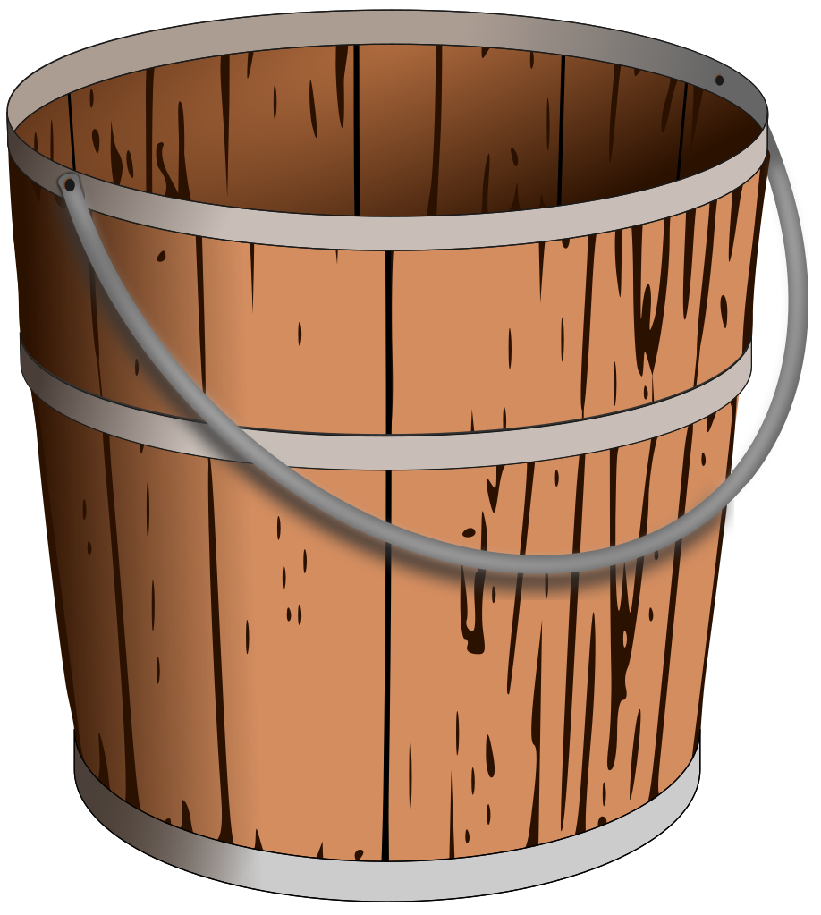 Bucket transparent wooden. Ymele pail svg wikip